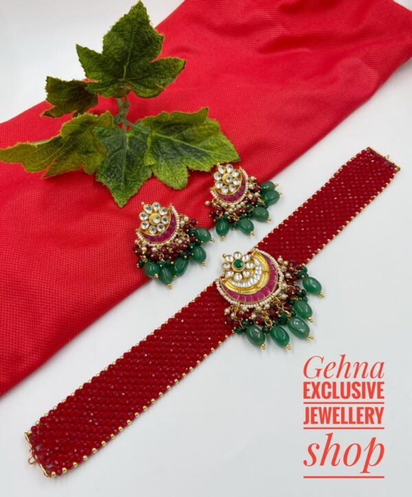 Traditional Red choker necklace