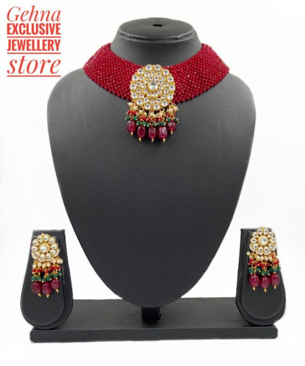 Red Chatai Choker Necklace