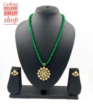 Round Kundan Necklace Set