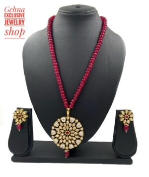 Kundan Necklace Floral Design