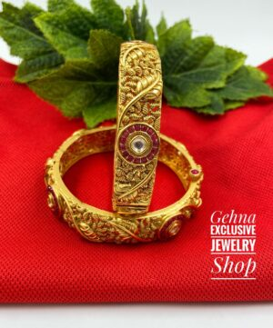 Antique Gold Wedding Bangles