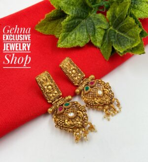 party wear golden earrings