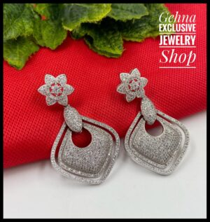Designer American Diamond Earrings