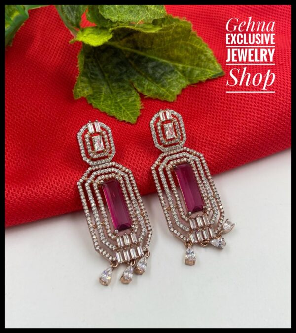 Fancy American Diamond Earrings