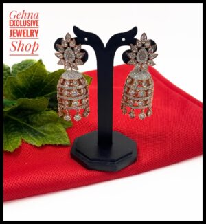Designer Rose Gold Jhumki