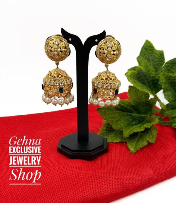 bridal wear jhumki earrings
