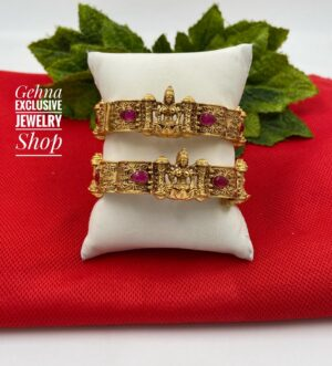 Gold Plated Temple Bangles