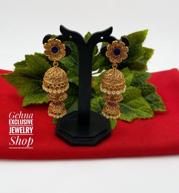 party wear step jhumki