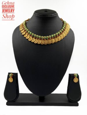 Golden Coin Temple Necklace