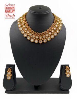 golden necklace for brides