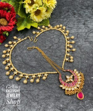kundan bridal matha patti