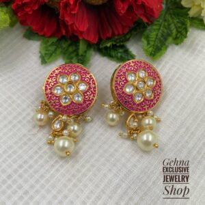 Meenakri studs for women