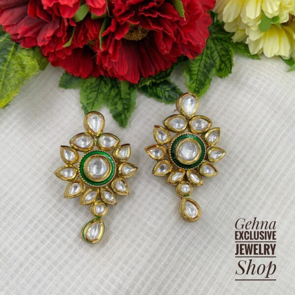party wear green earring