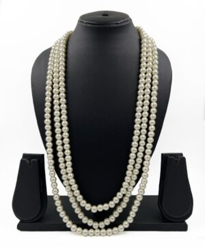 Beaded pearls Necklace for men