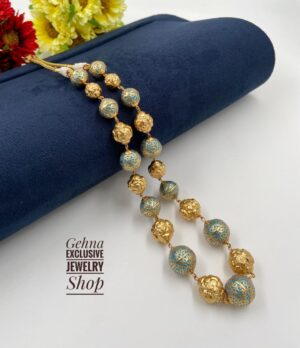 Golden Meenakari Antique Beads