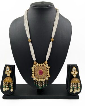 Kundan Pendant Branded Necklace