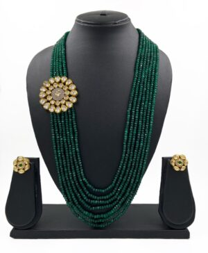multi-layered Green Necklace
