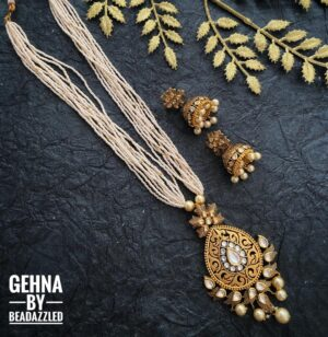 Kundan Pendant Pearl Necklace