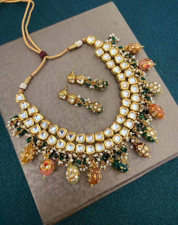 Handmade designer Kundan Necklace set