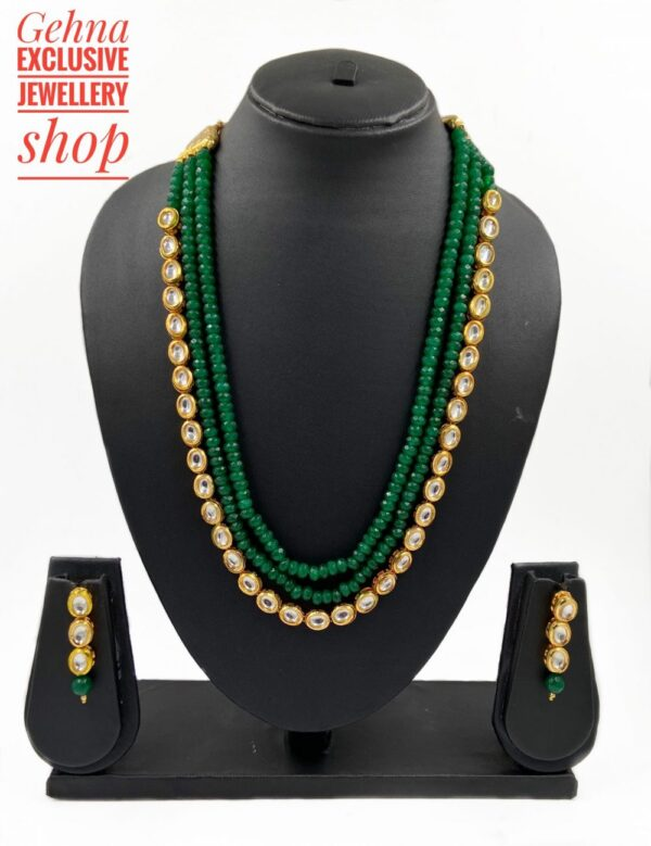 Kundan And Beads Necklace