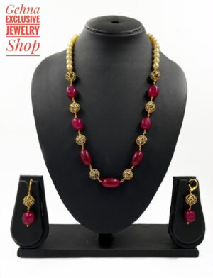 Red Jade Fancy Necklace