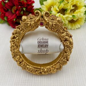 Gold Plated Antique Bangle