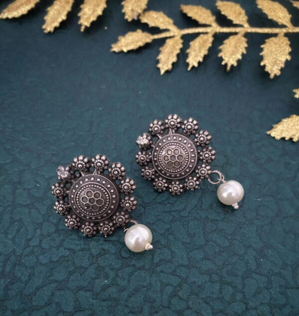 Oxidized Stud Earrings
