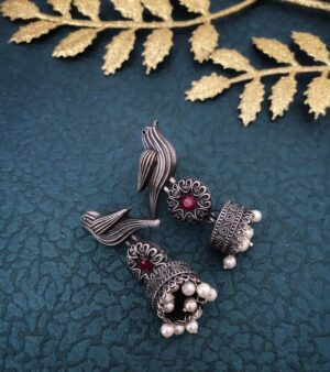 handcrafted oxidized Jhumki Earrings