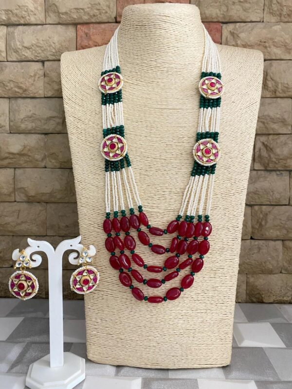 Hnadmade Beadede Necklace Set