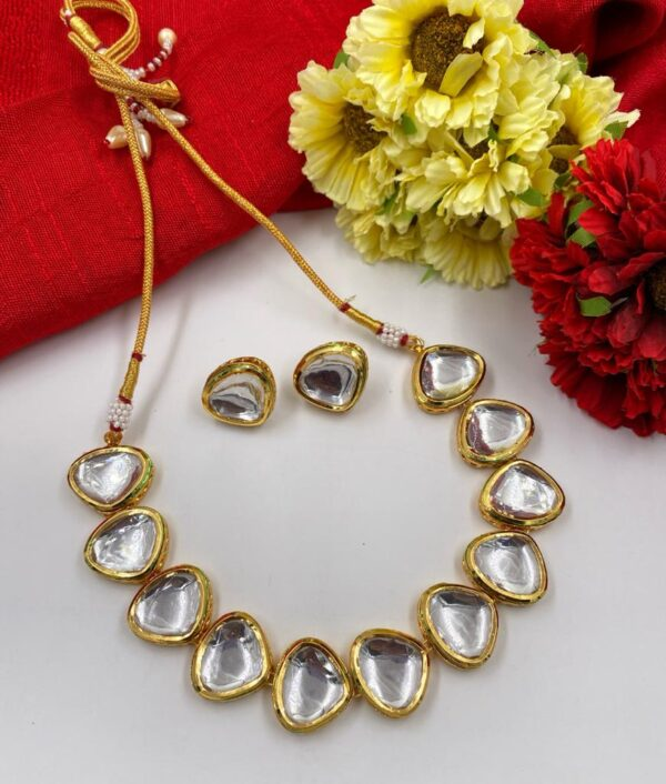 Polki Kundan Necklace Set