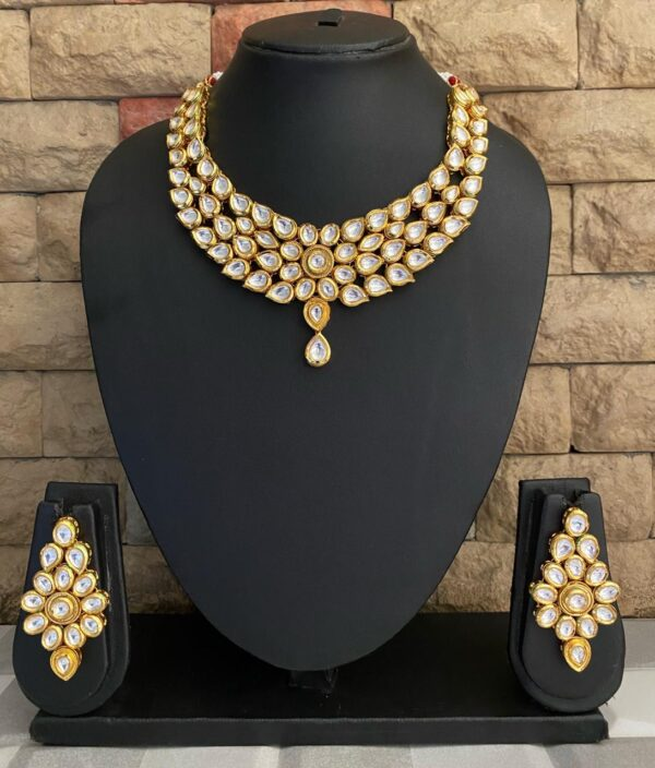Gold Toned Kundan Necklace