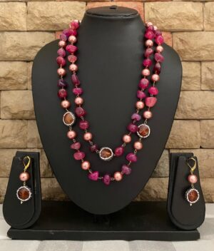 Semi Precious Onyx Beads Necklace