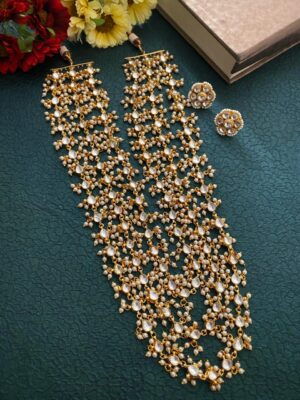 Triple Layered Long Jadtar Necklace