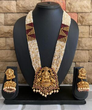 Gold Plated Antique Temple Necklace Set