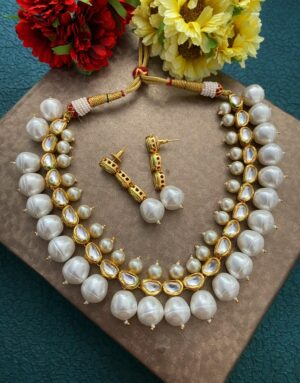 Kundan And Pearls Necklace Set