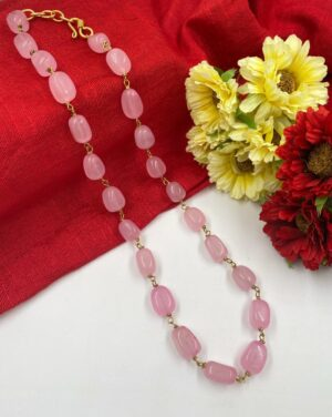Rose Quartz Beads Necklace