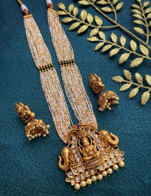Gold Plated Lakshmi Temple Jewellery