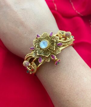 Antique Golden KADA BANGLE
