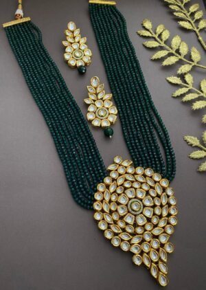 Wedding Kundan Pendant Necklace Set