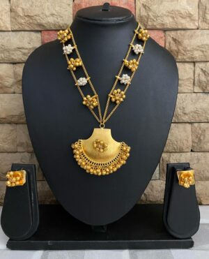 Designer Golden Necklace Set