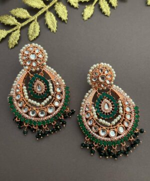 earring Designs for ladies in rose gold