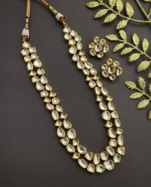 Long Layered Kundan Necklace