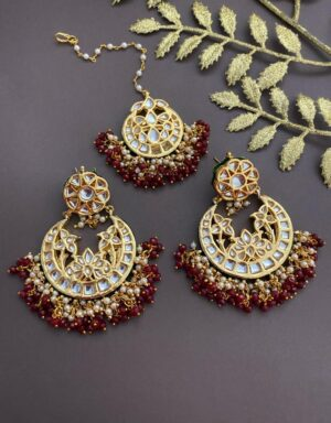 Kundan Earring and Tikka Set