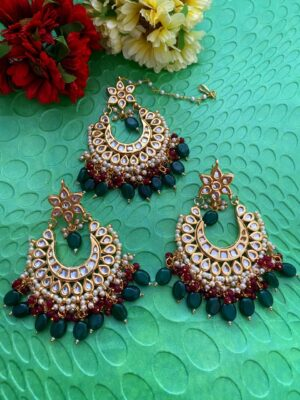 Maang Tikka Earring Set