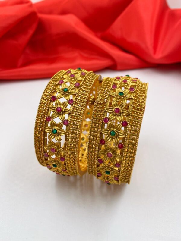 Designer Antique Brass Bangles