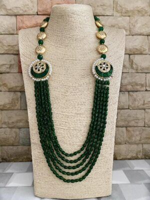 Multilayered Beads Necklace for sarees