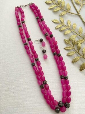 Pink Beads necklace designs