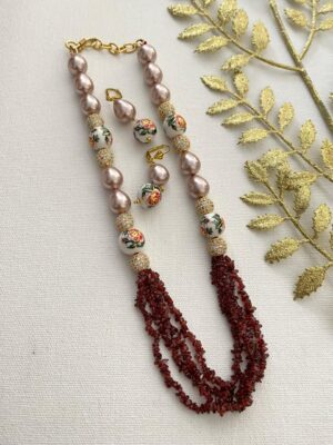 Beads Necklaces for saree