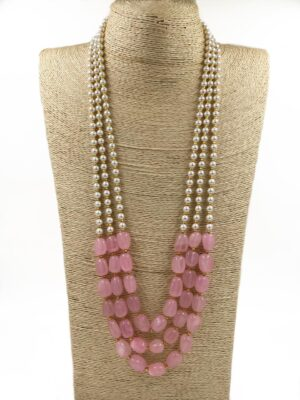 designer long layered necklace