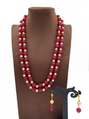 Ruby Beads Necklace Designs